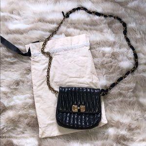Black Leather Lanvin Shoulder Bag